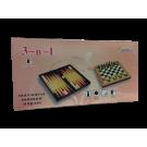Шахматы, шашки, нарды (подарочный набор 3 в 1 большой)
