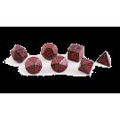 Набор кубиков: Дракон (7 шт. красно-чёрный)