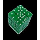 """Набор кубиков: """"простые"""", D6, 36 шт. зеленый"""