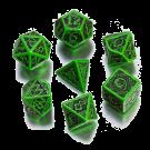 """Набор кубиков """"Кельтский 3D"""" 7 шт.,зелено-черный"""