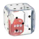 """Кубик D6 """"Кубик в кубике"""" 25мм"""
