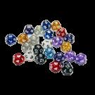 Кубик глиттер-мини, в ассортименте (D4, D6, D8, D10, D12, D20,%)