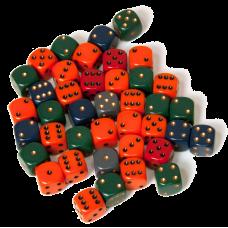 """Кубик D6 """"Опак"""" со скошенными углами"""