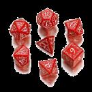 """Набор кубиков: """"Эльфийский"""" (7 шт, красно-белые)"""