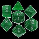 """Набор кубиков """"Chessex Велвет"""" (7шт. зеленый)"""