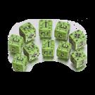 """Набор кубиков """"Военные German"""" (D6, Зелено-черные, 10 шт)"""