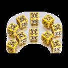 """Набор кубиков """"Военные Sniper"""" (D6, Желто-черные, 10 шт)"""