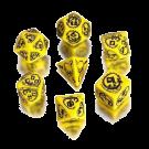 Набор кубиков: Дракон (7 шт. Жёлто-чёрный)