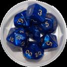 Набор кубиков Dice&Games (d4, d6, d8, d10, d10%, d12, d20 в круглой коробке)