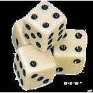 Кубик D6:слоновая кость