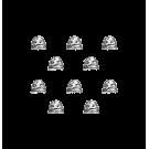 Warhammer 40000: White Scars Shoulder Pads