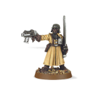 Warhammer 40000: Steel Legion Officer with Power Sword & Pistol